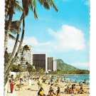 Hawaii Waikiki Beach Hotels Diamond Head Vintage 1974 Postcard 4X6