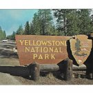 WY Yellowstone National Park Entrance Sign Vintage Postcard 4X6
