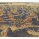 AZ Grand Canyon National Park Panorama Grand View Point Vtg Linen Postcard