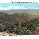 MA Williamstown Mt Greylock from Summit of Taconic Trail Vtg Postcard 1961