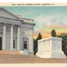 VA Arlington Tomb of Unknown Soldier Vtg B S Reynolds Linen Postcard Virginia