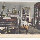 VA Mount Vernon Music Room Vintage Foster & Reymolds Postcard