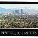 Los Angeles Skyline San Gabriel Mountains Postcard 4X6 CA