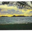Mexico Acapulco Bay Puesta del Sol Sunset Vtg 1968 Postcard