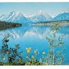 WY Jackson Lake Teton Mountains Wyoming Vintage Postcard