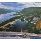 OR Columbia River Gorge Crown Point View Oregon Vintage Postcard