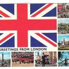 UK Great Britain Greetings from London Multi View Postcard 4X6