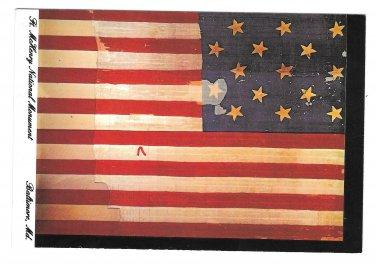 Fort McHenry American Flag Baltimore MD Vtg Postcard 4X6