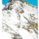 Germany Alps Zugspitze Ski Lift Schneefernerhaus Hotel Vtg Postcard 4X6