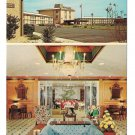 NC Governors Inn Research Triangle Park Exterior & Lobby Vtg Postcard