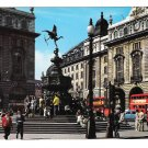 London England Piccadilly Circus Memorial Fountain Buses 1967 Postcard 4X6