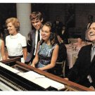 Nixon Agnew Presidential Campaign Postcard Family at Piano