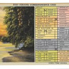 Busy Persons Correspondence Card Vtg 1945 Linen Postcard