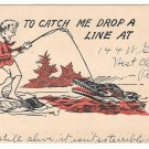 Humorous Cartoon Alligator Change of Address Vtg UDB Postcard