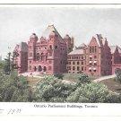 Canada Toronto Parliament Buildings Vtg MacFarlane Postcard 1908