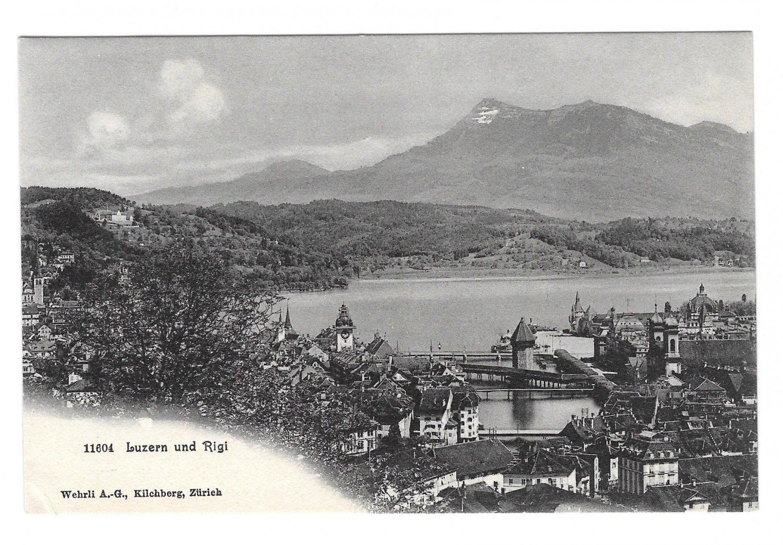 Switzerland Alps Luzern und Rigi Vintage Wehrli Postcard