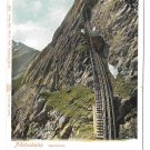 Switzerland Alps Pilatusbahn Train Mount Pilatus Vintage Postcard