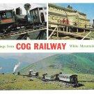 NH White Mountain Cog Railway Multiview Vintage Postcard