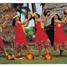 Hawaii Hula Nani Girls Gihrards Dancers Pahu Skirts Mike Roberts Postcard