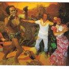 Hawaii Wax Museum Hukilau Luau Feast Vintage Postcard