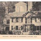 "Concord MA Hawthorne's Home ""Wayside"" Vtg Postcard"