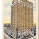 Reading Pa Hotel Abraham Lincoln Vintage Linen Postcard