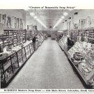 Eckerd's Drug Store Columbia SC Interior Aisle Vintage Postcard
