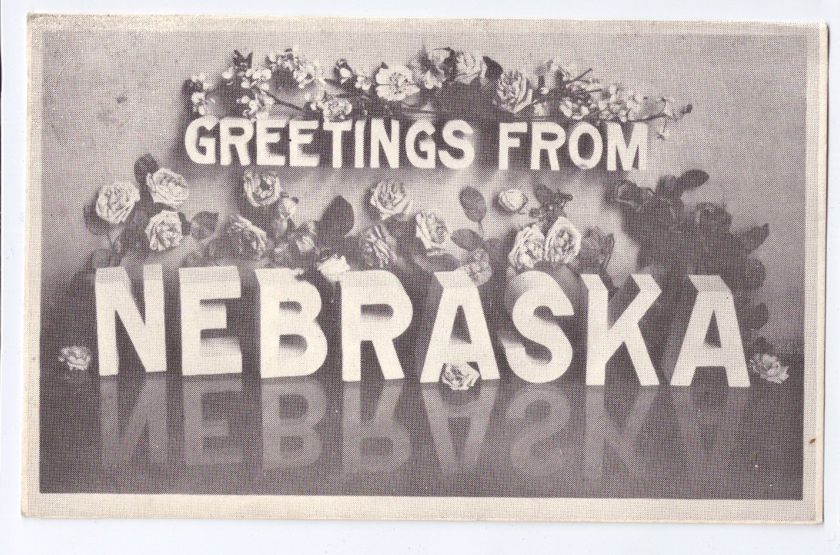 Greetings from Nebraska 1985 Vintage Large Letter Postcard