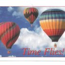Dental Advertising Appointment Postcard Time Flies Hot Air Balloons card 2007
