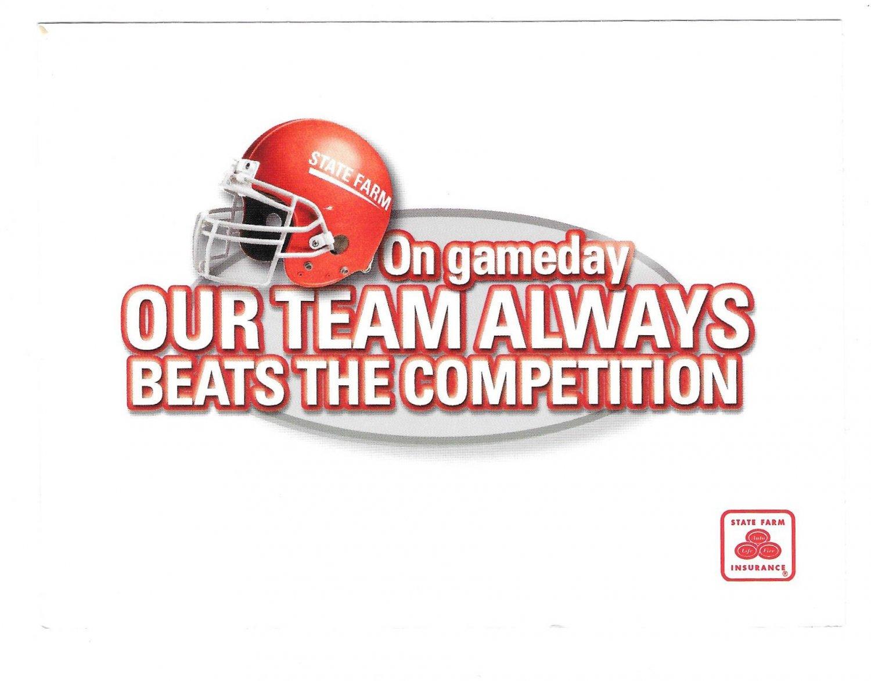 Modern Insurance Advertising Postcard State Farm Ad Football Team