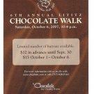 Lititz PA 6th Annual Chocolate Walk Modern Advertising Postcard 2007 CharityAd