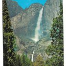 California Yosemite Falls from Meadow Vintage Waterfall Postcard 4X6