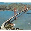 CA San Francisco Golden Gate Bridge Aerial View Vintage Postcard