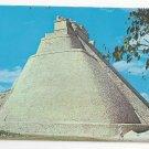 Mexico Uxmal Yucatan Magicians Temple Pyramid Vintage Postcard