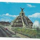 Mexico Pyramid Monument a La Raza Ciudad Vintage Postcard
