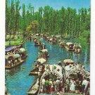 Mexico Xochimilco Floating Gardens Boats Trajineras Vintage Postcard