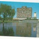 Mexico O'Gorman Mosaic Mural Ciudad National University Library Vntg Postcard