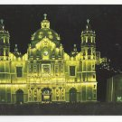 Mexico Virgin of Guadalupe Shrine at Night Church Our Lady Basilica Vtg Postcard