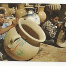 Mexico Hand Painted Pottery Tlaquepaque Jalisco Folk Art Vintage Postcard