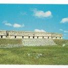 Mexico Yucatan Uxmal Governor's Palace Vintage Postcard