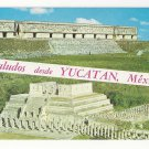 Mexico Uxmal Governor Palace Warriors Temple Chichen Itza Dual View Postcard
