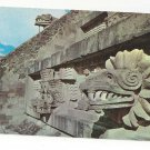 Mexico Temple Feathered Serpent Piramides San Juan Teotihuacan Vntg Postcard