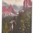 Italy Alps Roadside Shrine Tschamintal Sattelspitze Vntg Postcard