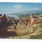 Italy Taormina Sicily Greek Theatre Archaelogy Ruins Vtg Postcard