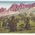 Italy Alps South Tyrol Karerpass Rosengarten Vntg Postcard