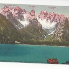 Italy Alps Tirol Durrensee Cristallogruppe Vintage Postcardd