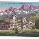 Italy Alps Karersee Hotel Rosengartengruppe Vintage Postcard