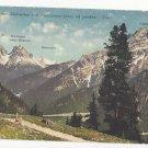 Italy Tyrol Ampezzaner Dolomiten seen from Platzwiesen Postcard