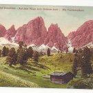 Italy Tirol Alps Weg zum Grodner Joch Techlerspitzen Vntg Postcard