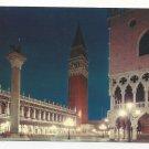 Italy Venice Ducal Palace Piazzetta St Mark Vintage Postcard 4X6